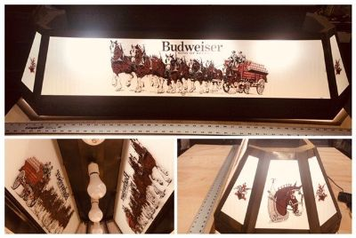 Anheuser Busch Clydesdale Pool Table light