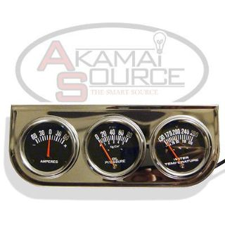 Purchase Automotive RACING Triple Gauge Kit Amp Water Temp Oil Car & Truck Parts Gauges motorcycle in Chino Hills, California, United States