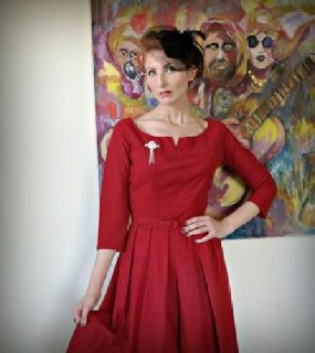 $49.99 Red 1950's Marilyn Monroe Dress. Vintage wool