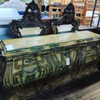 french Provencal dresser with 2 mirrors