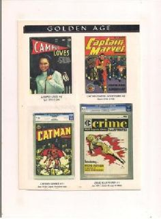 $1 Golden Age Comic Book Covers Posters