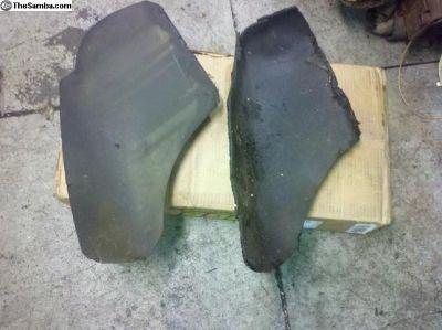 Wheel well tar pieces