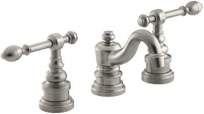 (Set of 2) KOHLER K-6811-4-BN IV Georges Brass Widespread Lavatory Faucets - Brushed Nickel Finish