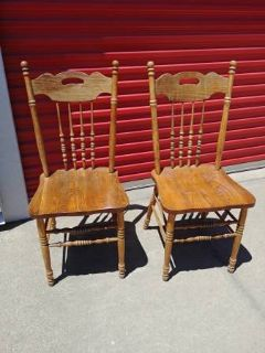 Antique or vintage solid wood chairs 2