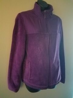 Nice purple zip up. Says large but run more like a med/large