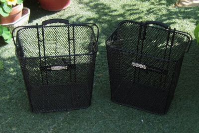 Electric Black Steel Mesh Rear Baskets