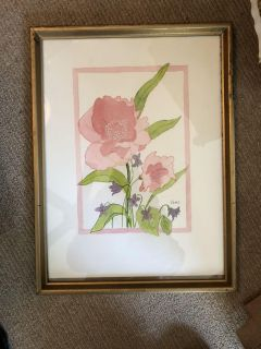 Original watercolor found dirty in attic of house sale