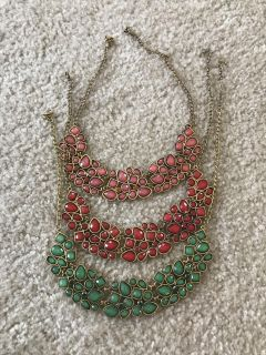 Three beautiful statement piece necklaces! $2 each or $5 for all!