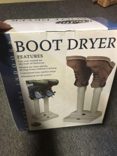 New in box boot dryer