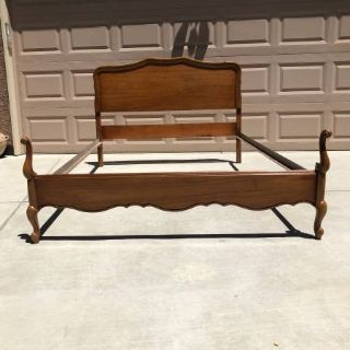 Vintage French Provincial Full Size Bed Frame