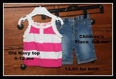 Children's Place girl's 6-12 mo outfit