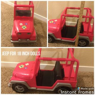 Jeep for 18 inch dolls, in GUC with normal wear from play. $7.00