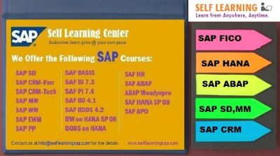We  Offer the Followning SAP COURSES .