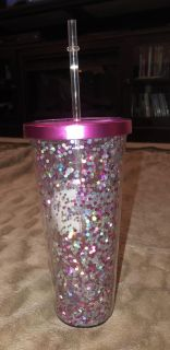 Pink Glitter Cup