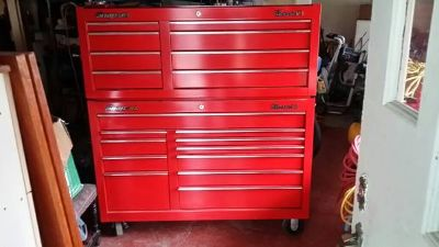 Snap On Classic 78 Red Tool Box w Roller Cab
