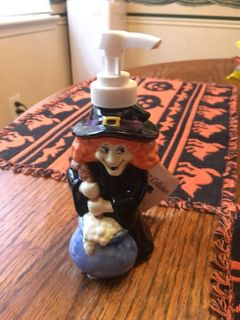 New with tag. Halloween witch soap dispenser.