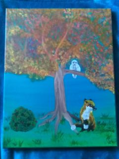 Local artist acrylic on canvas painting 11x14inchs title Wisdom