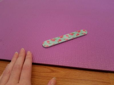 Floral nail file - still in wrapping