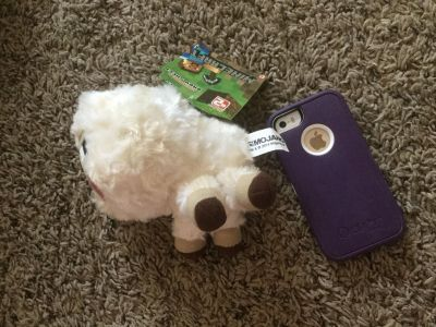 Scroll right for second photo, brand new with tags Minecraft plush sheep. $2.00