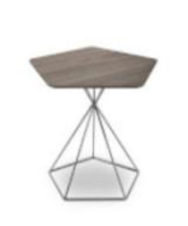 Mid Century Modern Aliza End Table (Chrome Base)