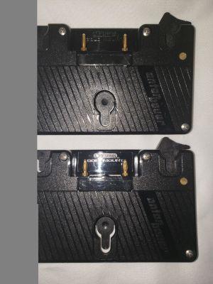 (2) Anton Bauer Gold Mount Logic Series Battery Camera Adapter Plates
