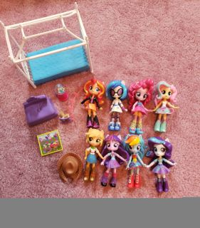 My Little Pony Equestria Girl Dolls with Bed & room accessories