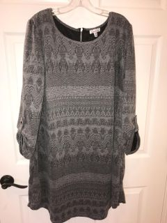 2X dress from Belk , worn once for a wedding , not fitted , very cute with black leggings and boots