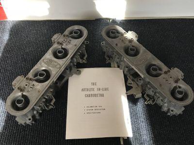 Inline autolite carburetors