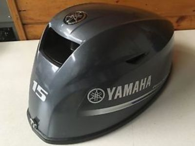 Purchase Yamaha F 15 HP 4 Stroke Outboard Engine Top Cowl Cover Hood Freshwater MN motorcycle in Keewatin, Minnesota, United States, for US $349.99