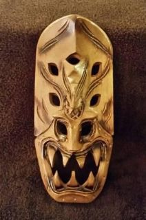 Carved Wood Tribal Mask Philippines