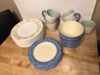 Pfaltzgraff Summer Breeze Mixed Lot 24 pieces