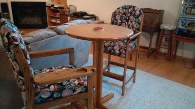 Pool table chair set