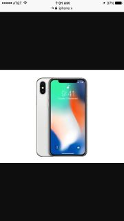iPhone X Silver 64GB AT&T
