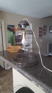 GORGEOUS ANTIQUE UP-CYCLED HANGING BIRDCAGE LIGHTING...*WOULD LOOK AWESOME W/EDISON BULB!