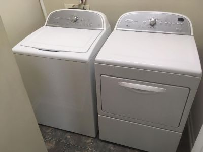 Whirlpool washer and dryer set. Good condition.