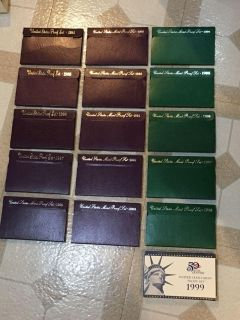 Mint Proof Set: coin collection years from 1984-1998