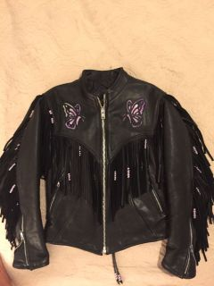 Motorcycle leather jacket (womens)