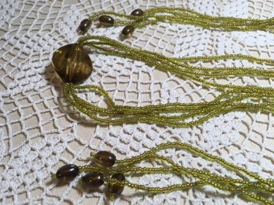 Mystery Item Long Lasso Type Necklace Maybe Two Matching All Beads Vintage Mystery Color