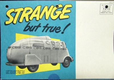 Sell 1949 GMC Strange But True Motor Transport Sales Brochure Mailer motorcycle in Holts Summit, Missouri, United States, for US $44.00