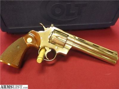 "For Sale: 1979 Colt Python 6"" Nickel w/Colt factory box"