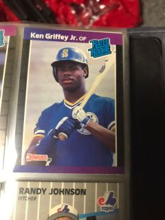 Griffey Jr and Randy Johnson rookie