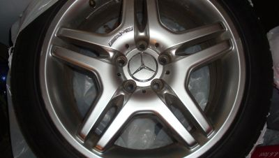 "MERCEDES S430 18"" GENIUNE AMG FRONT/REAR RIMS/TIRES"