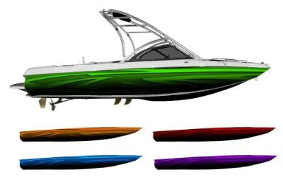 Buy Tribal Low Rider Boat Wrap - Customized for your boat - Choose Your Color motorcycle in Naples, Florida, United States, for US $595.00