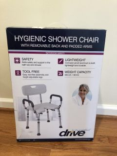 New in box shower chair