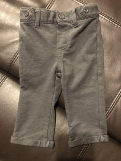 Baby Cat & Jack Church Pants. Nice Condition. Has Some Stretch. The Color In Pictures Are A Little Lighter. They Are darker! Size 3-6