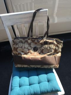 Authentic Coach diaper bag or could use as a large purse 17 X11