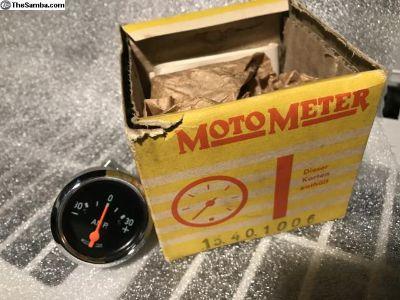 NOS Motometer Oval Amp Gauge