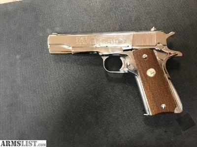 For Sale: COLT 1911 MKIV SERIES 70 NICKLE
