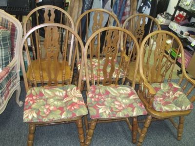 Six Spindle Chairs - Delivery Available