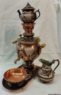 Copper Toreutics Tea Set, PERSIAN